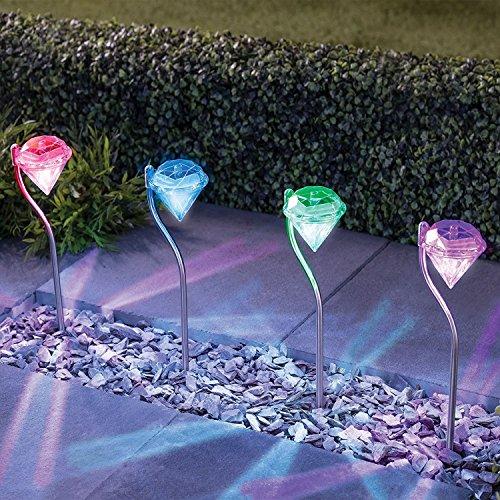 Solarlampe für Garten mit 4er-Set